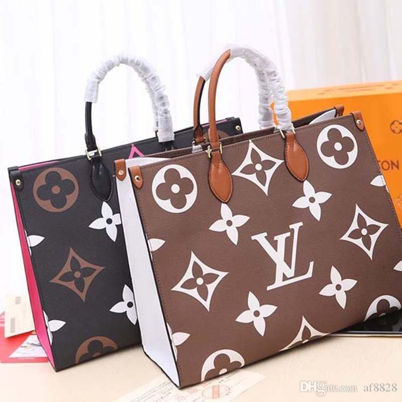 2020 New Luxury Designer Handbag feita de couro e lona de moda de luxo Designer Handbag Moda Imprimir M44571 x126