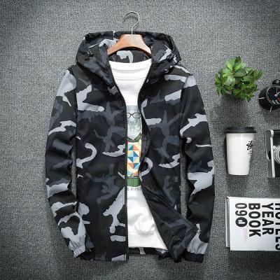 Mens Deaigner Jacken Fashion Camo Pattern Hoodies Luxus Casual Mens Kleidung Mens Thin Windbreaker 3 Styles Asian Größe M-5XL für den Großhandel