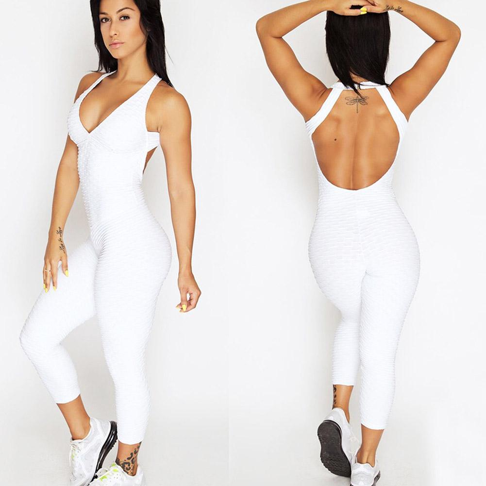 Acheter Femmes Yoga Leggings Combinaison Culotte Push Up Pantalon Dété Dos Nu Stretch Body Nouveau De 27 24 Du Primen Dhgate Com