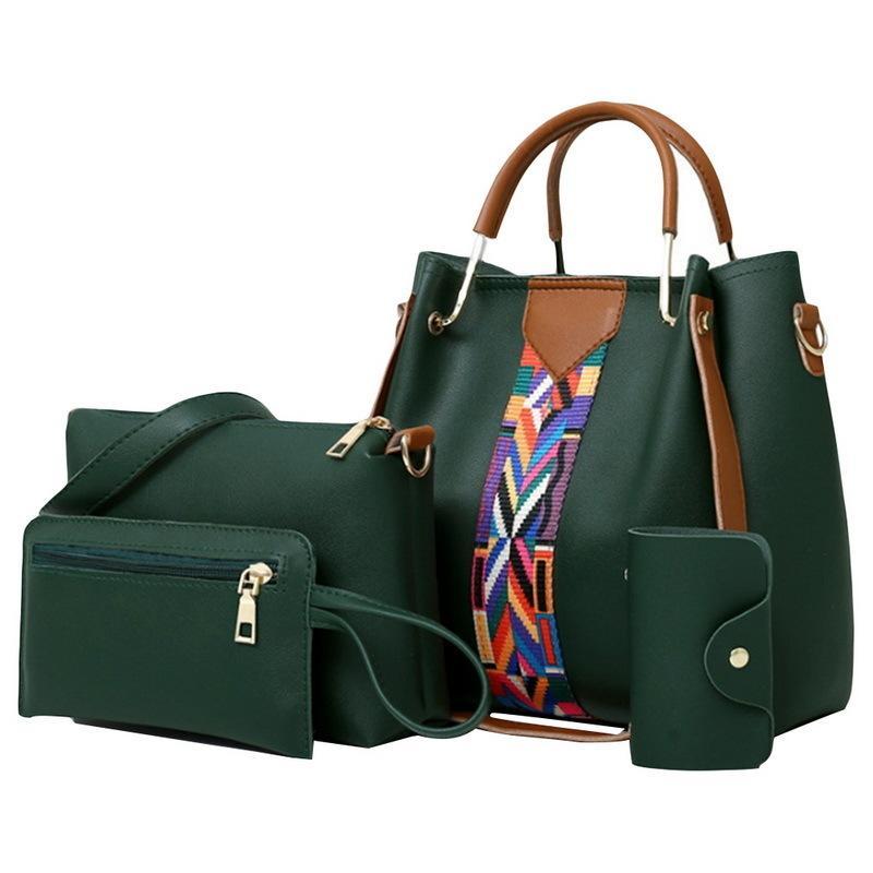 4 Pcs/set Women Handbag 2018 Messenger Bags For Ladies Fashion Shoulder Bag Lady Pu Leather Casual Female Shopper Tote Sac Femme Y19052402