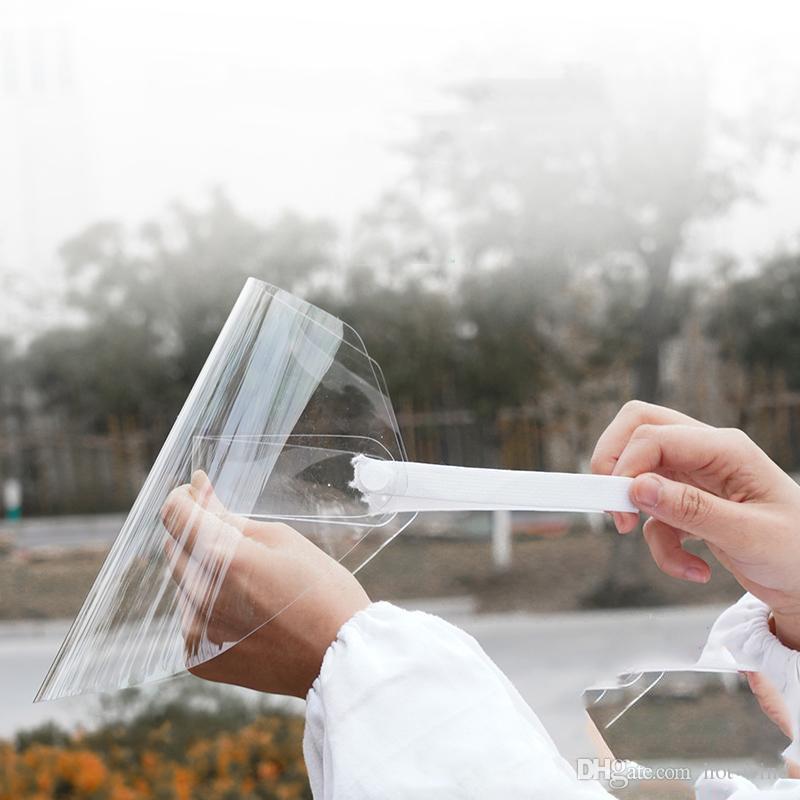UPS Pacchetto Posta trasparente di protezione anti-fog maschere di protezione olio da cucina splash cappello di polvere per bambini di età viso maschera di pioggia equitazione viso copertura