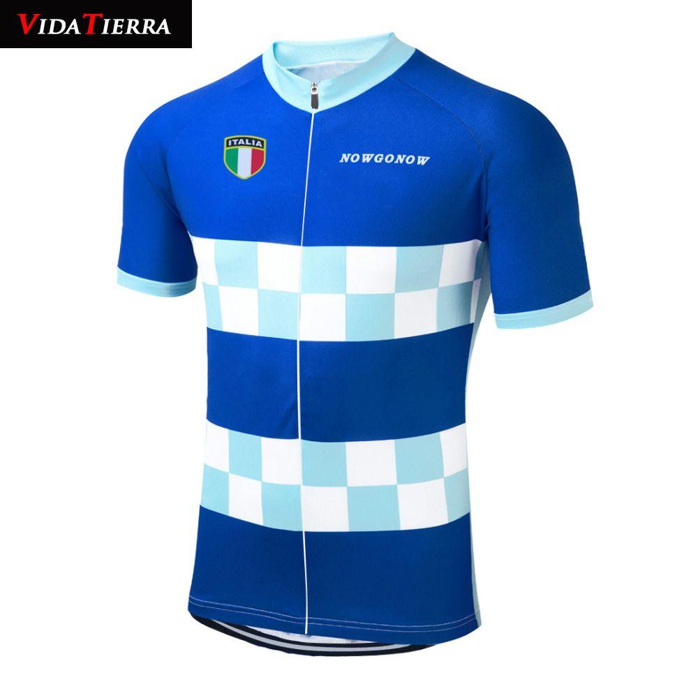 VIDATERRA 2019 hombres ciclismo jersey azul italia equipo pro ropa de ciclismo ropa ciclismo maillot equipo de equitación clásico Verano Fascinante
