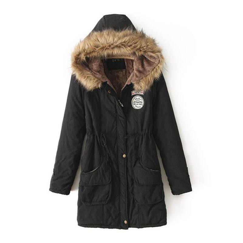 Sweats à capuche chaud pour femmes Parker Manteau long en coton épais pour femmes Parker XL 3xl