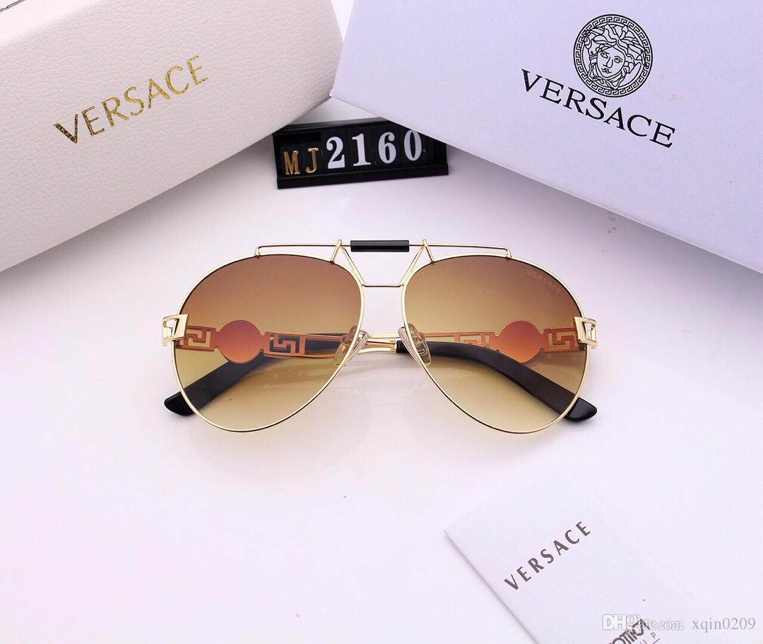 Luxury sunglasses fashion new large frame man frog glasses alloy metal frame unique old people head and legs multi-color options