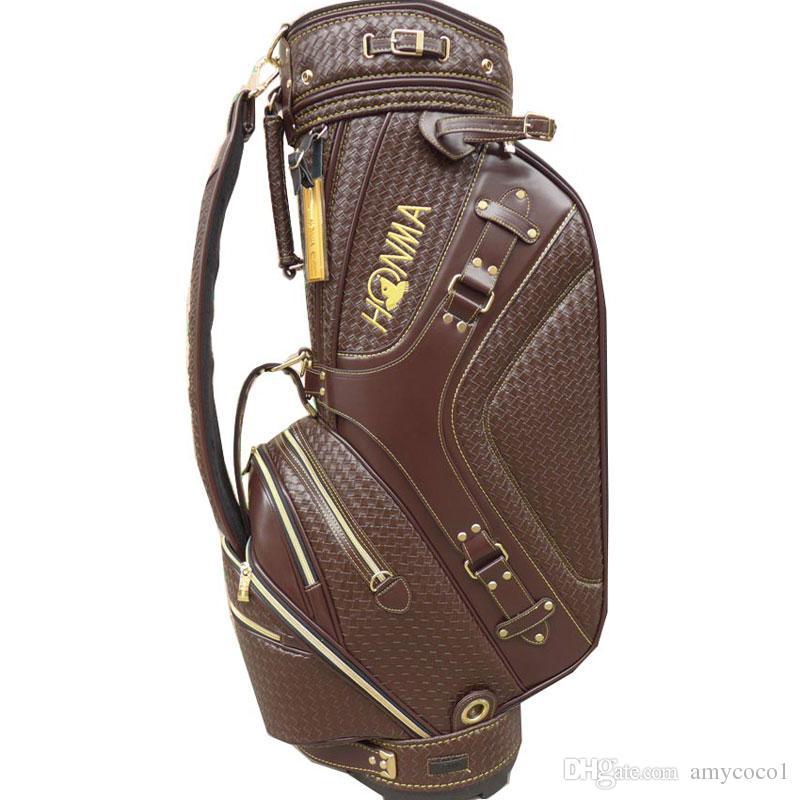 Neue Männer Golfbag PU HONMA Golf Cart Bag in Wahl 9,5 Zoll Golf Club Standard Kugeltasche