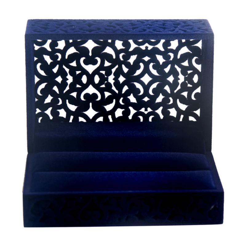 Sostenedor del boda del anillo de almacenamiento Caja de regalo de la joyería del contrato Organizador
