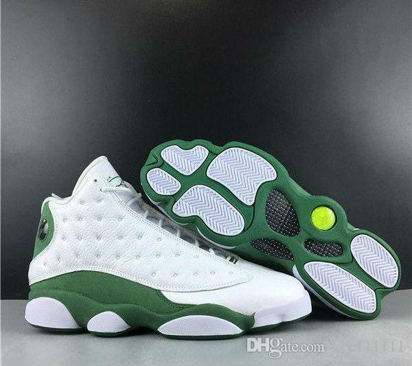 Nuova release 13 XIII pe ulivo verde bianche scarpe da uomo di pallacanestro 13s design nero sneakers giallo Allenatore sportivo all'aperto