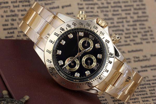 Men's Watches High-end Dress Designer Fashion Black Dial Calendar Gold Bracelet Folding Clasp Luxury Watch Automatic Mechanical Automatic Wi