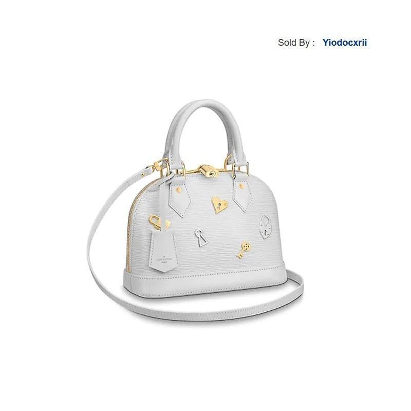 yiodocxrii 3KBX Love Lock Alma Bb Handbag Padlock Key Accessories Messenger Bag M52884 Totes Handbags Shoulder Bags