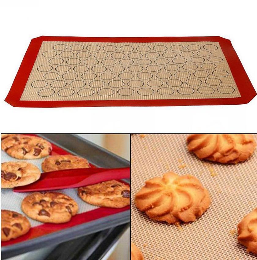 Silicón macaron torta de los pasteles de los macarrones horno Bandeja de horno Moldes Mat 420 Hoja * 295 * 0.7mm torta de los pasteles KKA7799