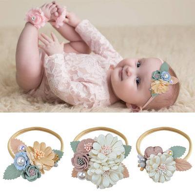 Wecute 2020 nouvelle mode bébé fille Bandeau Floral élastique Hairband pour les enfants Chapeaux Fille Enfants Accessoires cheveux