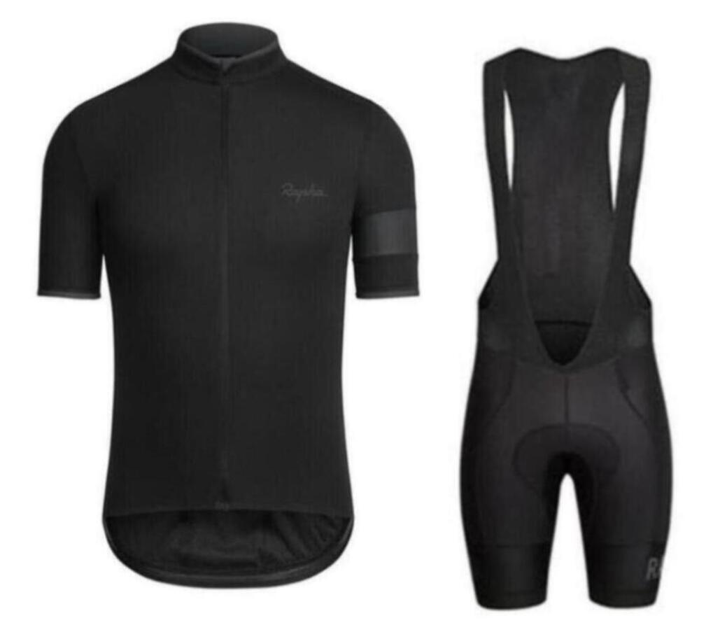 Rapha verão homens de manga curta desgaste cycling jersey bicicleta roupa jardineiras SET MTB uniforme PRO ciclismo roupas bicicleta Maillot Culotte zefengst
