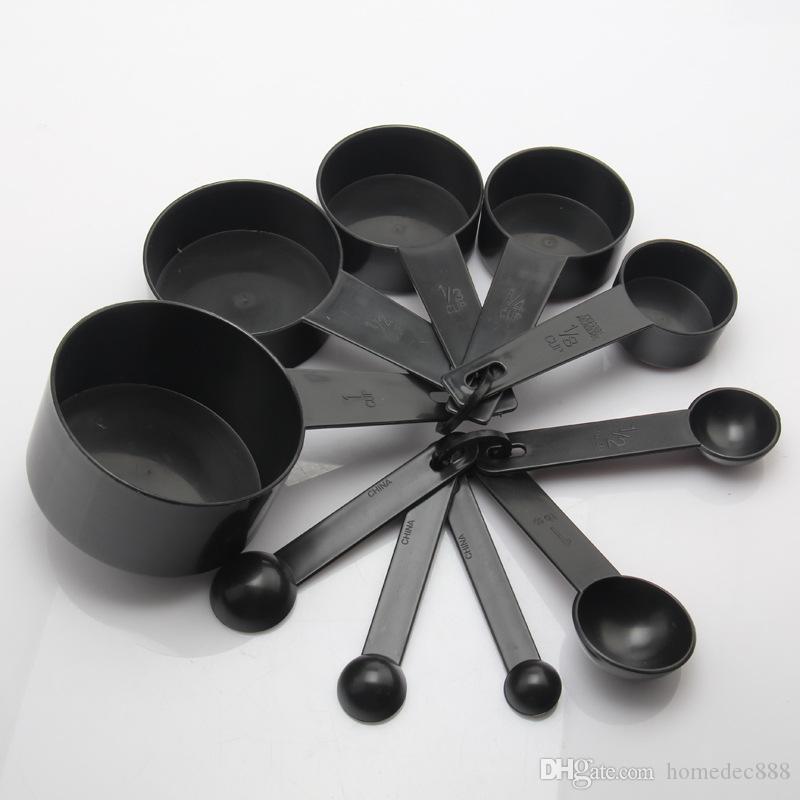 Plástico Colher De Medição 10 pçs / set Profissional Colher De Medição Com Escala De Medição De Cozimento Conjunto De Ferramentas de Cozinha DH0027