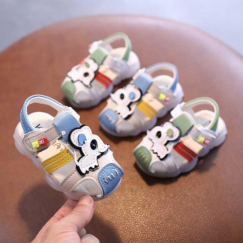 kızlar erkekler için Yaz bebek sandalet ayakkabı yürümeye başlayan yumuşak alt bezi çocuk ayakkabıları moda küçük çocuklar plaj sandalet