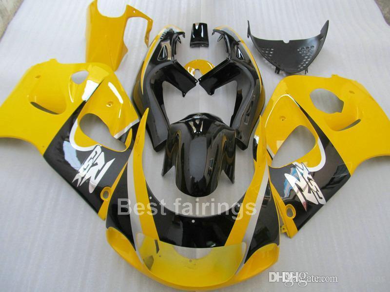 ZXMOTOR Fairing kit for SUZUKI GSXR600 GSXR750 SRAD 1996-2000 black yellow GSXR 600 750 96 97 98 99 00 fairings HS23