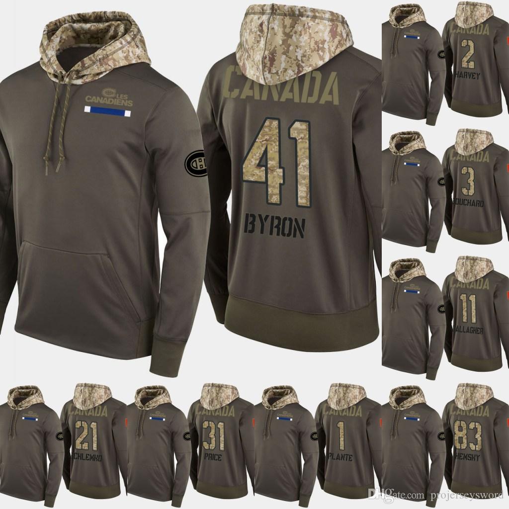 몬트리올 캐나 디 엔스 살루트 서비스 후드 티 41 폴 바이런 11 브렌든 갤러거 31 캐리 프라이스 61 자이 버 Ouellet 하키 스웨터 셔츠