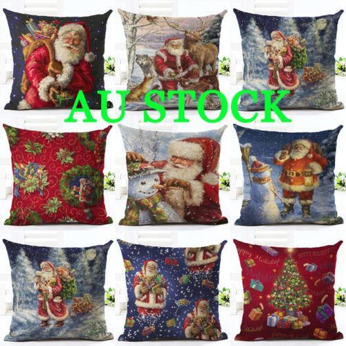Frohe Weihnachten Weihnachtsmann Kissenbezug Weihnachten Kopfkissenbezug Sofa Car Home Decor