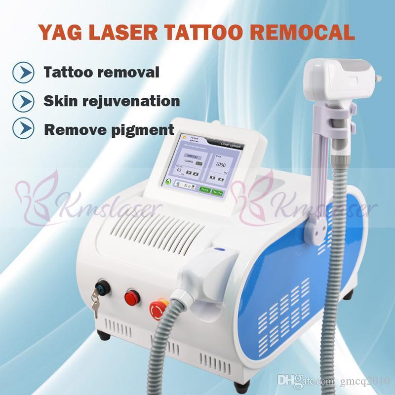 Avec DHL rouge visant expédition rapide 532nm 1064nm Yag Laser Tattoo removal machine Q Passer l'élimination Sourcils pigment beauté peau Équipement soins