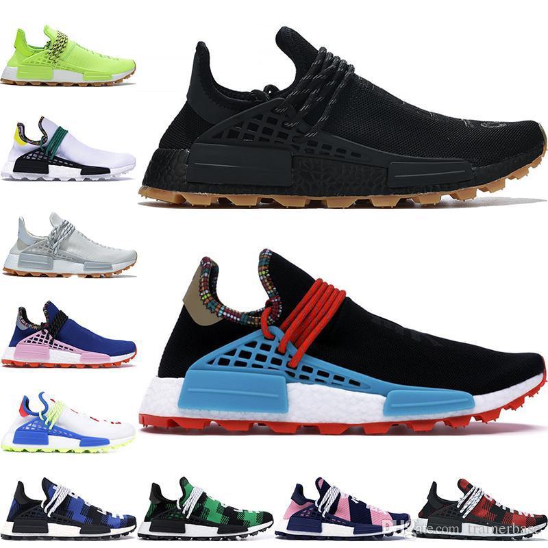 2019 جديد الإنسان سباق NMD الاحذية فاريل ويليامز هو تريل أوريو نوبل الحبر الأسود الطالب الذي يذاكر كثيرا مصمم أحذية رياضية الرجال النساء الأحذية الرياضية
