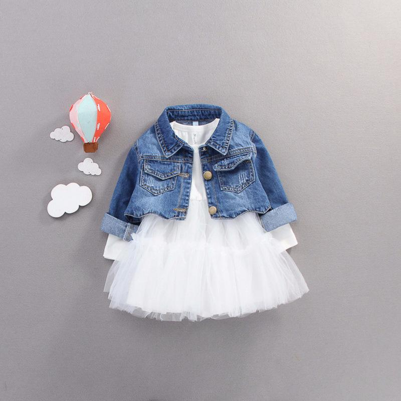2019 Real Time-limited Sale Patchwork Cotton England Style Full Girls Dresses Spring Veil 0-3 Years Old Children Princess Dress J190506