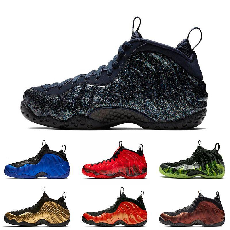 Moda para hombre Obsidiana Baloncesto zapatos favoritosAirefoampositeCentavoHardaway OG Real camuflaje para hombre zapatillas de deporte de diseño