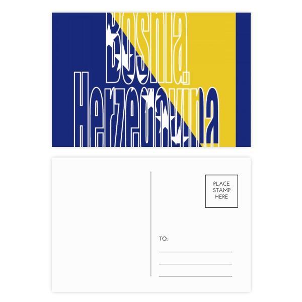 Bosnia Herzegovina Flag Nome cartoline impostare Compleanno Grazie carta Mailing 20pcs laterali