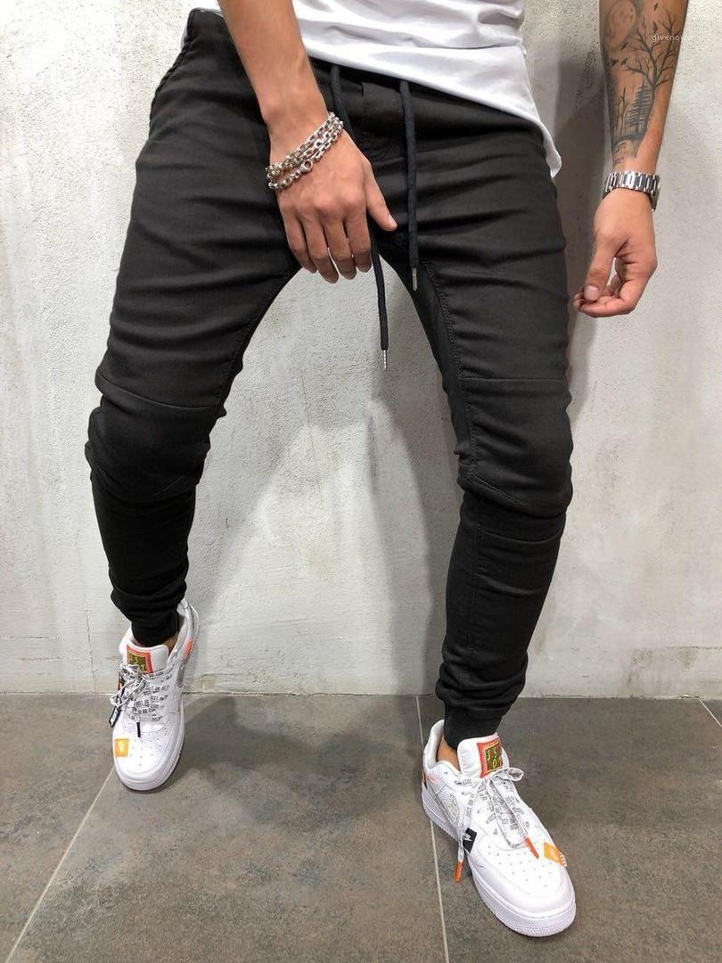 Vita elastica casual Sport Jogger Jeans Primavera Athletic Pantalones Pantaloni Mens