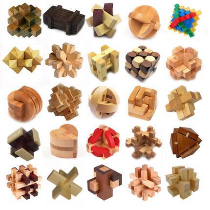 Classico puzzle in legno 3d Iq Mind Brain Teaser Burr Puzzle Gioco Giocattoli per adulti Bambini Bambini