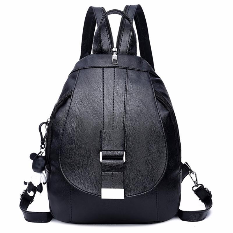 Женщина 2020 Pu кожаный рюкзак мешок плеча способа Женщины Рюкзак Дамы Повседневная Путешествия Рюкзак ранцы для девочек # BL4