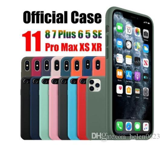 embalagem original Designer oficial para iPhone 12 Mini 7 8 Plus 6 6s cobrir para iPhone 11 Pro capa de silicone Max Xs XR líquido com caixa de varejo Logo