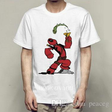 Sailor t-shirt Deadpool mange des épinards à manches courtes T-shirts au design amusant Vêtements de loisirs T-shirt en coton élastique