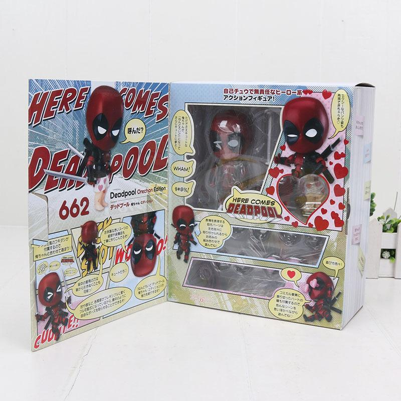 10cm Mini 662# Deadpool PVC Action Figure Model Collections Toy Creative Gift UK