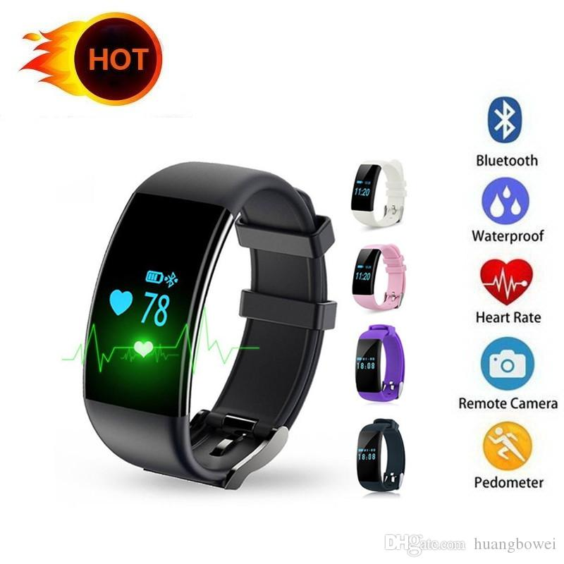 Dfit D21 Smart Bracelet Wristband Bluetooth IP68 Waterproof heart rate Monitor Sport Wristlet Tracker For iphone ios android smartphone 1pcs