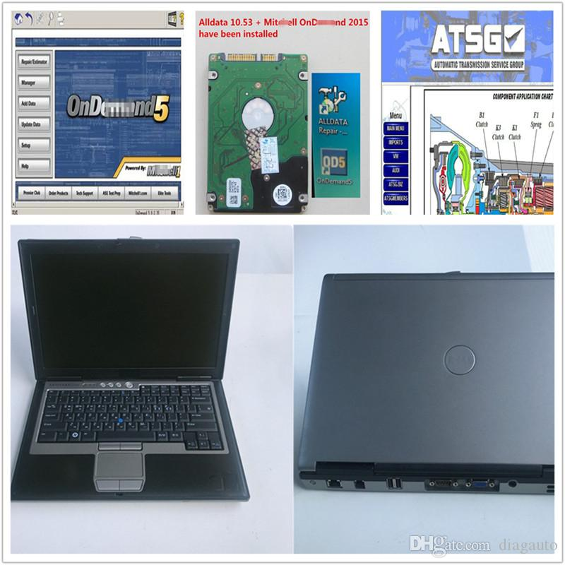 newest alldata and mit-ch*ll soft-ware installed laptop D630 second hand with 1tb hdd windows7 auto repair soft-ware