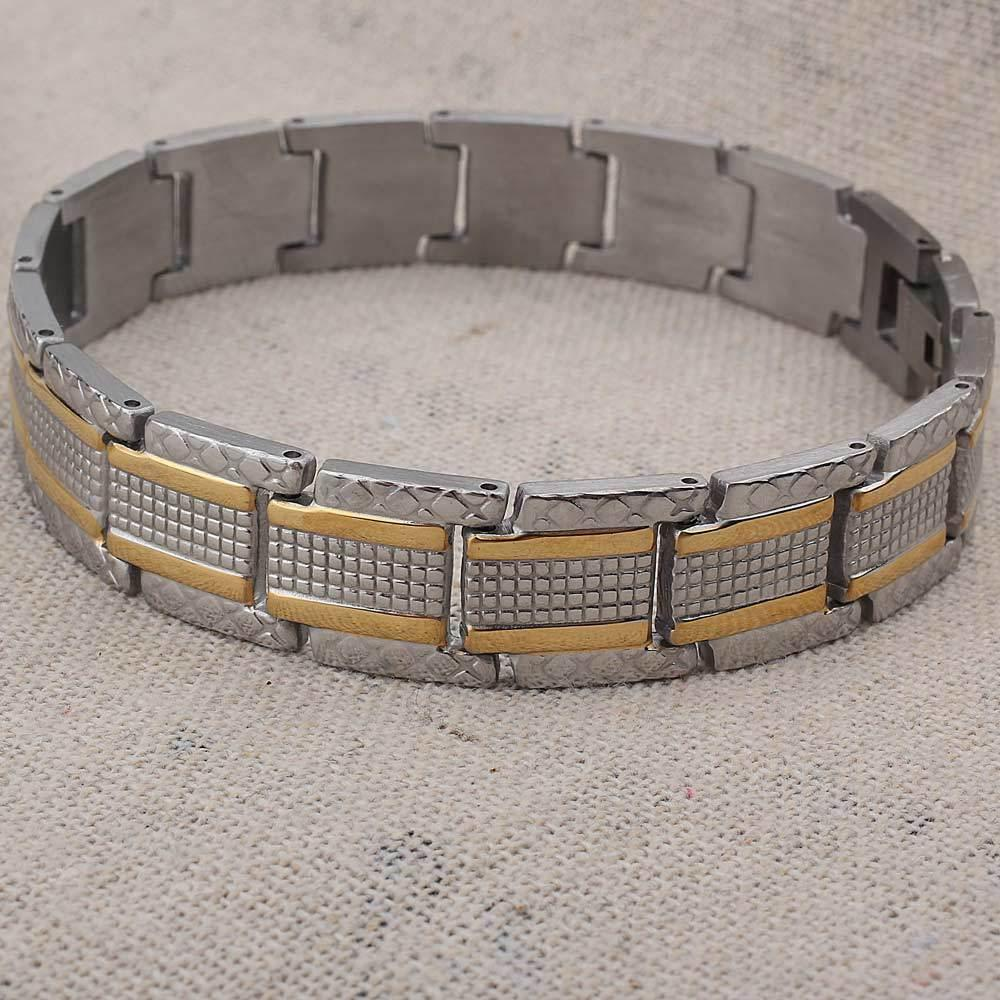 Men's 316L Stainless Steel Chain Link Bracelet Cross Bracelets For Christmas Gifts 9 Watch Band