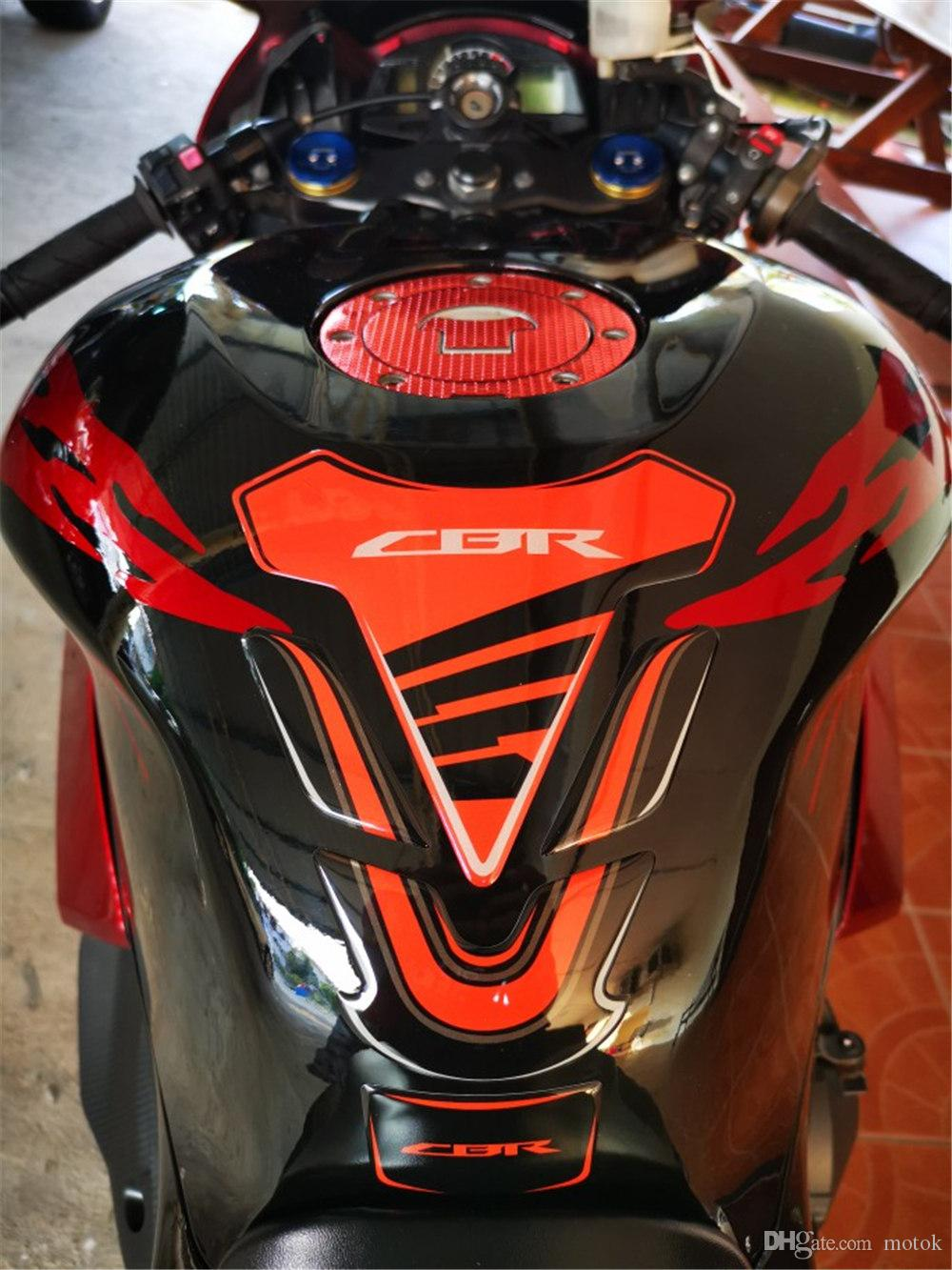 Color : Blue 3PC 3D tanque de la motocicleta protector del coj/ín Etiqueta caso for Honda CBR 600 900 Yamaha MT01 MT03 MT07 MT09 FZ1 FZ6 Kawasaki Z750 Z800
