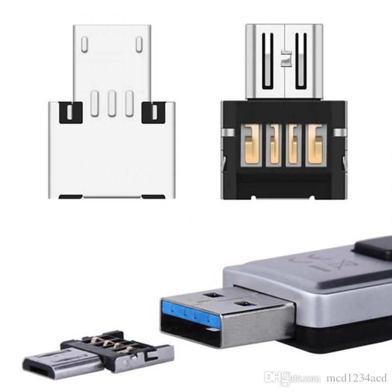 USB dişi otg kart cep telefonu, tablet pc klavye için adaptör okundu Mini USB 2.0 Mikro USB OTG Dönüştürücü Adaptör Mikro Erkek için