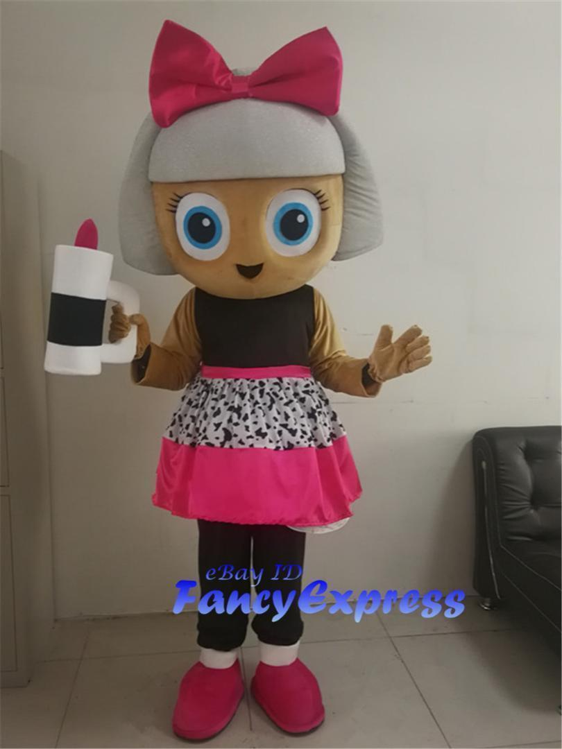Doll Mascot Costume Christmas Party Fancy Dress Adult Outfit Suit