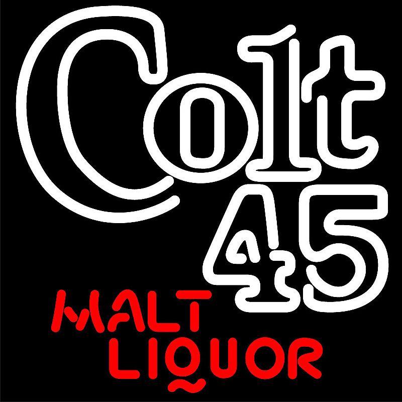 Customized Colt 45 Malt Liquor Neon Sign for advertising use pub light glass custom neon sign for pool