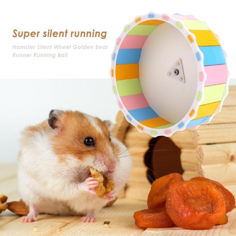Small Pet Toy Hamster Running Wheel Pet Sports Toy Cute Hamster Keep Running Wheel Toy Pet Hamster Exercise Sports Roller