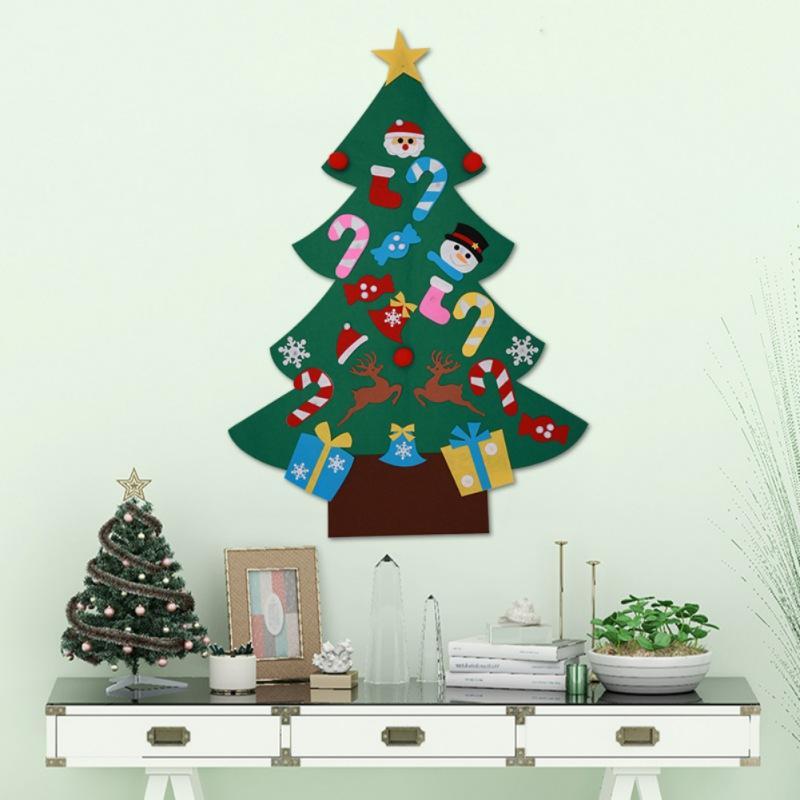 3ft DIY Felt Christmas Tree Set with 26 Removable Ornaments Xmas Hand Craft Decorations For Home Arbol De Navidad Kerstboom