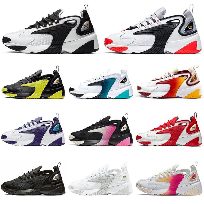 Nike zoom 2k 2019 M2K Tekno Zoom 2K Laufschuhe Designer Luxus Herren Damen 2000 Schwarz Weiß Orange Navy Casual Sport Sneakers Herren Trainer Größe 36-45