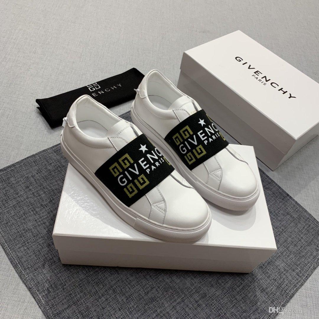 Elastik bant ve alfabe nakış tasarımı lüks ayakkabılar en kaliteli deri bandı çalışan Yeni arrivel erkek rahat ayakkabı markaları