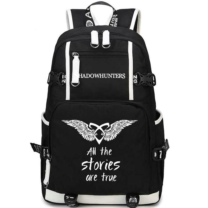 Zaino Pack Shadowpack Daypack Daypay Cacciatori True Schoolbag Zaino Borsa Storie di svago Qualità Shadowhunters Sport School School Outdoor Packsac GXNX