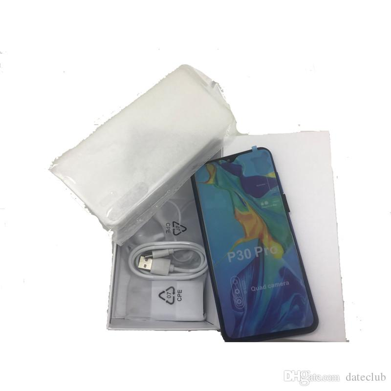 Desbloqueado Goophone P30 Pro 6.5Inch Mostrar Tela 8GB 128GB Mostrar 4G LTE HD Quad Câmera GPS Wifi 3G WCDMA Android Cell Phone