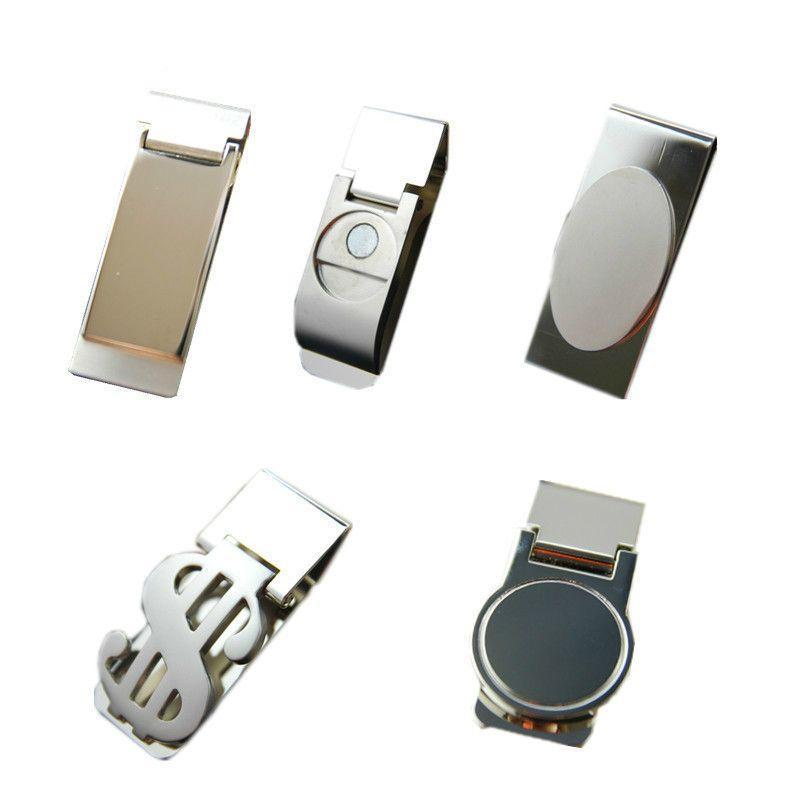 10 adet Yüksek Kalite Paslanmaz Çelik / gümüş Roman Yeni İnce Cep Nakit Kimlik Kredi Kartı Dolar Tutucu Küçük Mini Sihirli Para Klip! C19041201