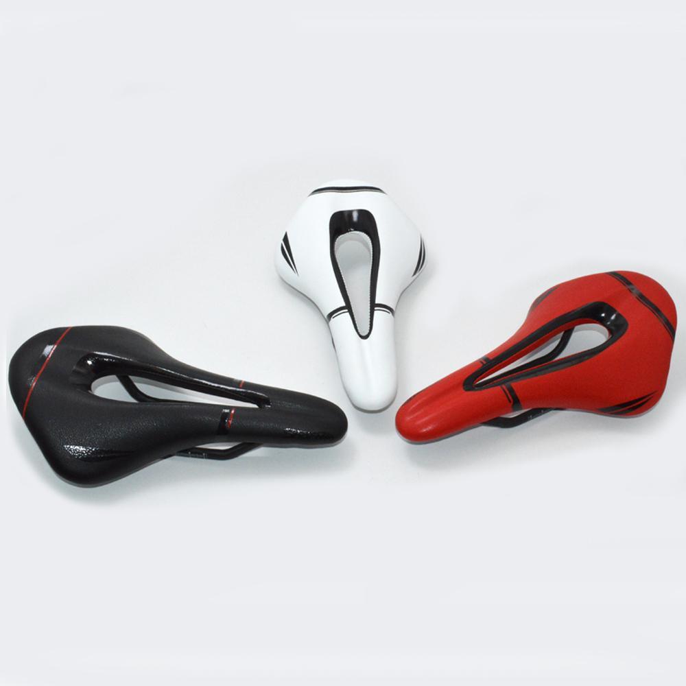 Fibra New Carbon Couro MTB bicicleta Saddle Road Bike Selas Montanha peças de bicicleta sela almofada 3 cores 143x250mm