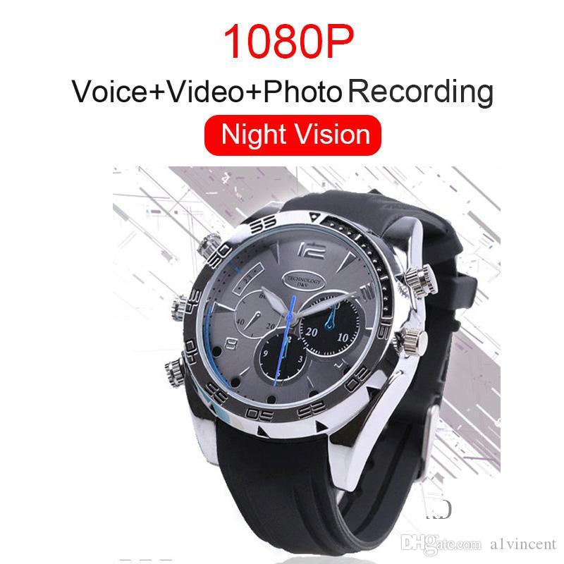 عالية الجودة HD 1080P الذكية الاسورة الفرقة ووتش للرؤية الليلية IR صور كاميرا فيديو مسجل صوت كاميرا الرياضة 32G 16G 8GB
