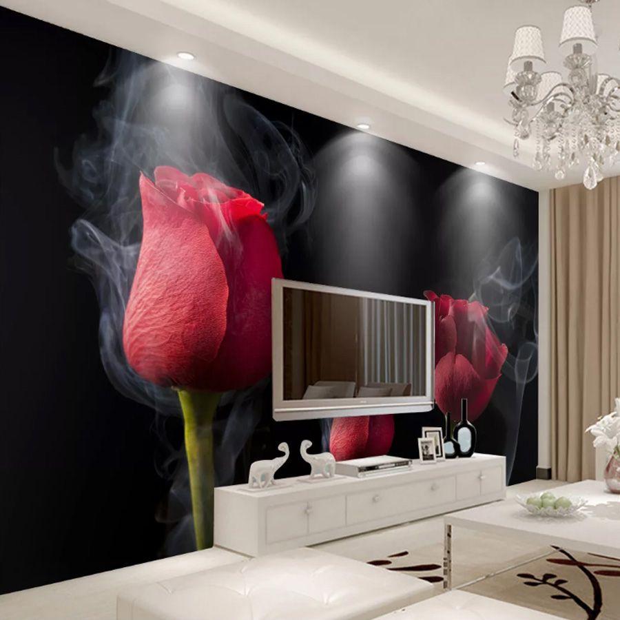 Minimalist Smoke Red Rose Wallpaper Romantic Photo Wallpaper 3d Wall Mural Girls Bedroom Living Room Sofa Tv Background Room Decor Good Hd Wallpaper Good Wallpaper Hd From Monkey Zabrina 13 47 Dhgate Com
