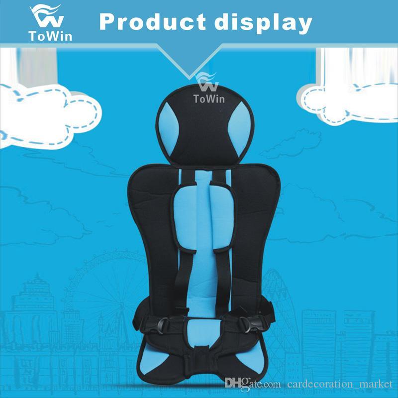 Arabada Çocuklar için basit Tasarım Taşınabilir Koltuk Kalınlaşmış Rahat Koruyucu Ped Yastık Araç Oto Bebek Koltuğu 2019 Yeni